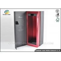 Buy cheap CMYK Colors Single Wine Bottle Packaging Boxes , Wine Gift Box Packaging Medium Fibre Board from wholesalers