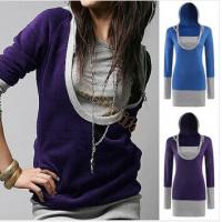 Buy cheap Spring Women Female U Neck Pullover Sweatshirt Tops Outwear Free Shipping from wholesalers