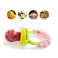 Food Grade Rattle Toy Silicone Baby Teether Safety Fresh Fruit / vegestable Feeder Manufactures