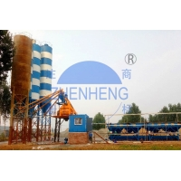 Wholesale HZS75 75 Cubic Meters / Hour On Site Concrete Batching Plant, Portable Concrete Mixing Equipment from china suppliers