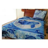 China Home Health Smooth 2 Ply Mink Blanket With Bule Printed , Breathable Blanket on sale
