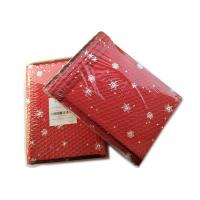 Wholesale Rigid Envelope Aluminium Metallic Bubble Mailer With Stunning Red Chirstmas Designs from china suppliers