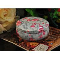 Buy cheap Empty Round Tin Candle Holders Collectible Container Customized from wholesalers