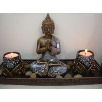 Buy cheap Resin buddha /Resin buddha statue Zen Garden Set /sitting resin buddha candle holder set from wholesalers