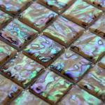 Buy cheap Handmade Beautiful Shiny Colorful Sea shell Mosaic Abalone Sea Shell Wall Mosaic 20x20mm from wholesalers