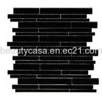 Wholesale Black Glass Mosaic Glass Mosaic,Glass Tile 11*76*8mm from china suppliers