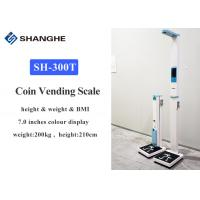 Buy cheap Portable Coin Operated Weight And Height Machine , Folding Accurate Body Weight Scale from wholesalers