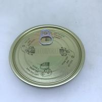 Buy cheap 401 99mm EOE Tinplate Easy Open Lid Ends For Tin Can FDA Glod Color from wholesalers