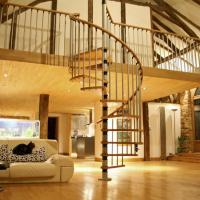 Wholesale China factory supplier wood spiral stair used spiral staircases from china suppliers