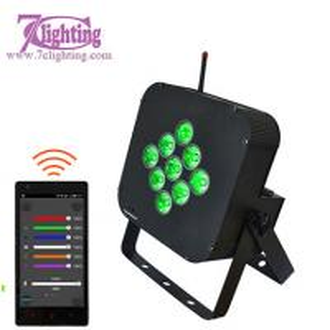 9 RGBWA+UV Battery LED Par DMX 2.4GHz WiFi Uplighting