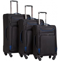 Wholesale Combination Lock Spinner Softshell Trolley Suitcase Set from china suppliers
