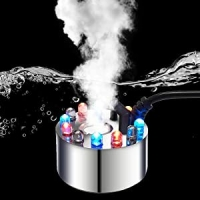 Buy cheap Indoor LED Mister Fogger with Light Witch Cauldron Diffuser Fountain Pond Fog Machine Ultrasonic Atomizer from wholesalers