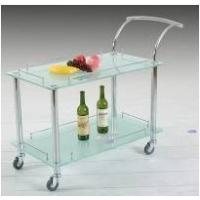 Buy cheap chromed iron tempered glass pub tables Bar from wholesalers
