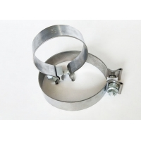 Buy cheap 3 Aluminized O Single Bolt Narrow Band exhaust Clamp Muffler clamp from wholesalers