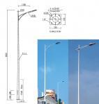 Buy cheap Square High Mast Light Pole Steel Warn 25m 30 Meter Galvanized Street Light Pole from wholesalers