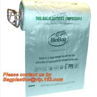 Wholesale OEM/ODM Accepted Printed Compostable Die Cut Plastic Trash Bags EN13432 BPI OK Home ASTM D6400 Certified from china suppliers