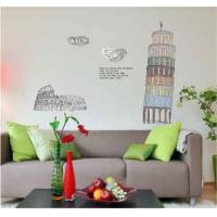 Buy cheap Self Adhesive Removable Wall Stickers Pisa Tower For Living Room from wholesalers
