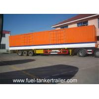Buy cheap 3 Axle Dry Van Cargo Box Enclosed Trailer / Curtain side semi trailer from wholesalers