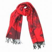 Wholesale Cashmere-like Scarf, Customized Specifications are Accepted, Measures 67 x 178 +10 x 2cm from china suppliers