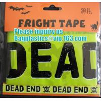 Buy cheap Rolls Halloween Caution Party Tape,Party halloween banner , plastic streamer caution party tape, fright tape bagease from wholesalers