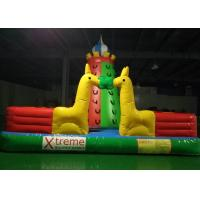 Buy cheap Kids Outdoor Playground Inflatable Rock Climbing Wall With Extra Webbing Reinforced Strip from wholesalers