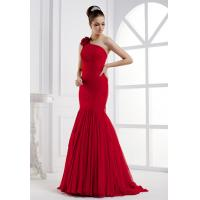One shoulder mermaid silk long evening dress wholesale Manufactures