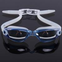 China Mirror Coated Lenses Anti Fog Swim Goggles Anti Shatter , Easy Release Head Strap on sale
