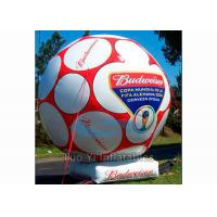 Wholesale Giant Inflatable Football Sports Themed Balloons White / Yellow For Advertising from china suppliers
