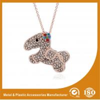 Wholesale Crystal Dog Metal Chain Necklace , Long Silver Chain Necklace from china suppliers