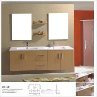 Buy cheap Double Basin Modern MDF Bathroom Vanity , Wall Hanging Bathroom Cabinets from wholesalers