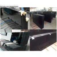 Buy cheap Anti UV Black Tempered Glass / Heat Resistance 5mm 6mm Toughened Glass from wholesalers
