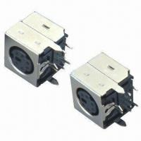 Buy cheap DIN Plug Connectors with Side Entry, Selective Gold Flash, 30MΩ Contact Resistance from wholesalers