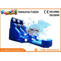 Wholesale Attractive Blue Cartoon Outdoor Inflatable Water Slides For Kids and Adults from china suppliers