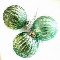 Buy cheap Glass Crafts/Glass Ball/Christmas Ornaments with Wire, Ideal for Christmas Decorations from wholesalers