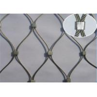 Buy cheap Architectural Metal Wire Rope Mesh , Crimped Stainless Steel Cable Netting from wholesalers