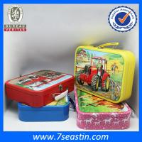 Buy cheap big square handheld candy tin box lunch tin can for christmas celebration from wholesalers