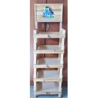 Buy cheap Retail Store Shelving System Wooden Display Stand With Custom Advertising Logo from wholesalers