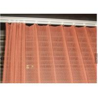 Buy cheap Colorful Decorative metal mesh drapery , Aluminum wire Chain Link Mesh Curtain from wholesalers