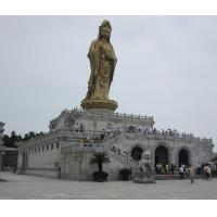 Wholesale 12 meters high Guan Yin Bhodisattva on lotus pedestal bronze Buddha from china suppliers