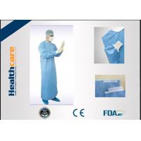 Buy cheap EN13485 Disposable Surgical Gowns Anti - Fluid Nonwoven 4 Ties Single Use from wholesalers