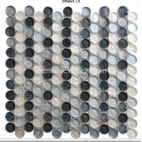 Wholesale Circle Glass Mosaic.Bright Gray,Dotted, Dia23mm from china suppliers