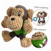 Buy cheap Durable Monkey Shaped Plush Pet Toys , Squeaky Dog Toys For Aggressive Chewers from wholesalers