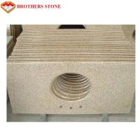 Buy cheap Polished Half Bullnose G682 Rusty Yellow Granite Bathroom Vanity Tops from wholesalers