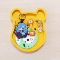 Buy cheap Japanese Rilakkuma Low price with High quality Soft PVC Coaster With Holder from wholesalers