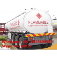 Buy cheap Kenya oil gasoline diesel petrol 35000L~60000Liters tanker truck trailer 3 axles 35000L fuel tanker trailer for sale from wholesalers