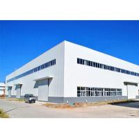 Buy cheap Steel Prefabricated Warehouse Building / Large Span Steel Frame Industrial Buildings from wholesalers