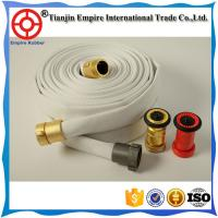 Buy cheap 3 inch fire fighter white hose with coupling fire resistant pvc hose manufacturers made in China with cheap price from wholesalers