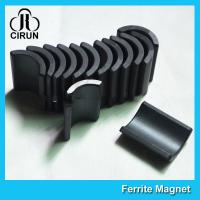 Buy cheap Y30 Grade Ferite Arc Magnets For Motors , Ferite Ceramic Motor Arc Magnets from wholesalers