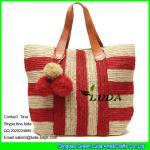 Buy cheap LUDA fashion straw raffia beach handbag crochet raffia straw tote bag from wholesalers