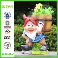 Buy cheap Gnome Carrying Pot Garden Oriental Flower Pots from wholesalers